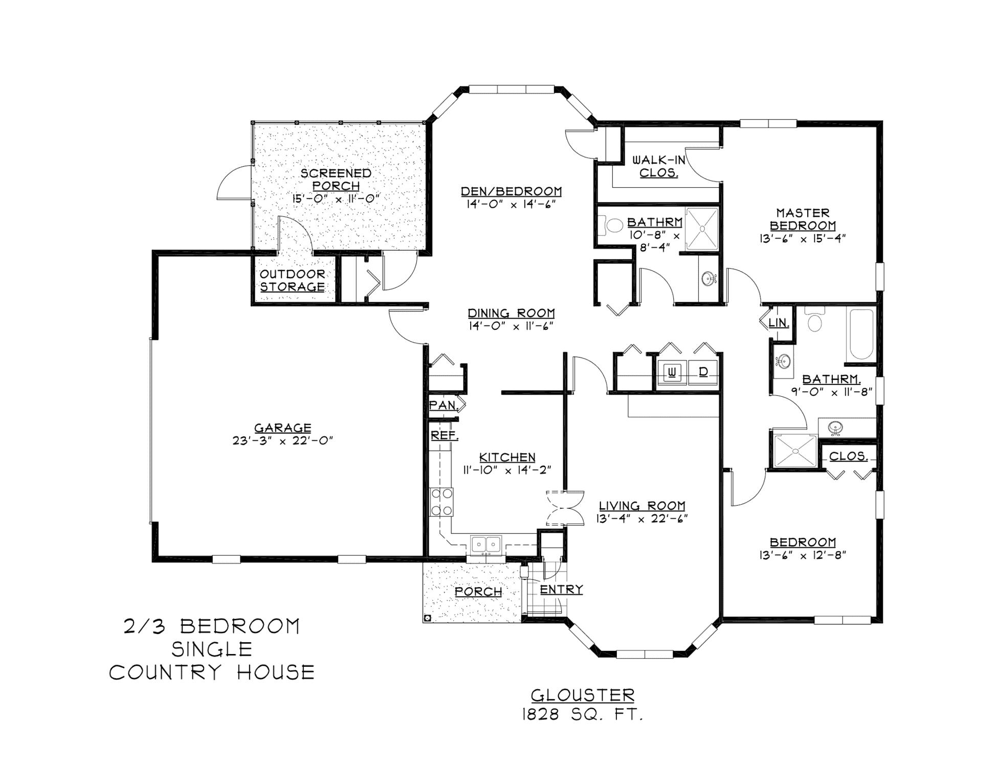 Senior Retirement Duplex House Plans